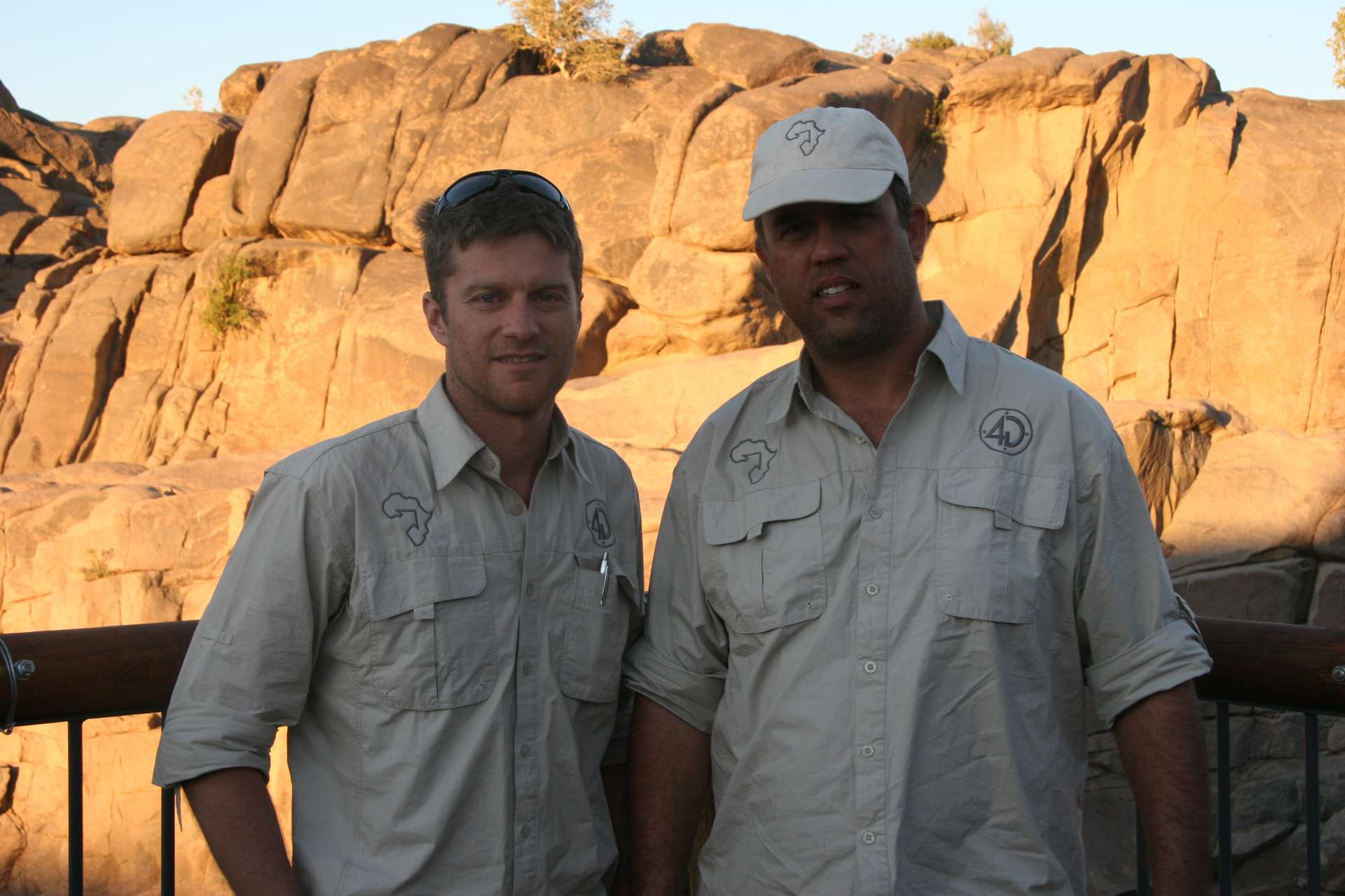 Steve and Andre in Africa