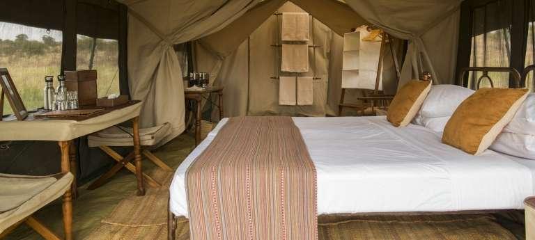 The bedroom view at Nomad Serengeti Safari Camp, Accomodation, Tanzania