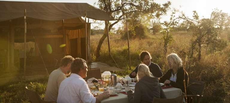 Dining at Nomad Serengeti Safari Camp,  Tanzania