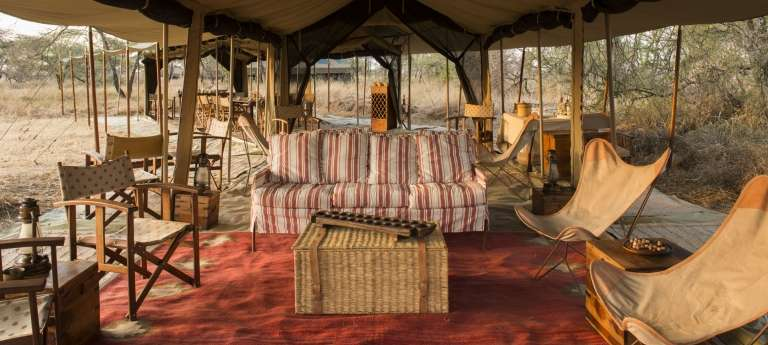The lounge area at Nomad Serengeti Safari Camp, Accomodation, Tanzania