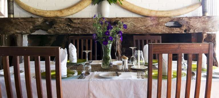 Diner at Ngorongoro Farm House, Tanzania