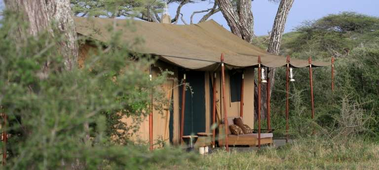 Tent Exterior at Lemala Ndutu Tented Camp in Serengeti National Park