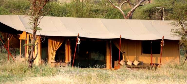 Lemala Ndutu Tented Camp Tent Exterior in Serengeti National Park, Tanzania