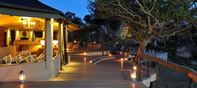 Outside Deck at Lemala Kuria Hills Lodge