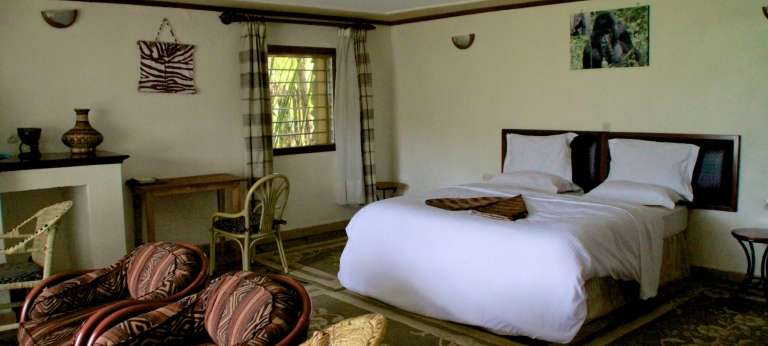 Bedroom at Mountain View Gorilla Lodge in Rwanda