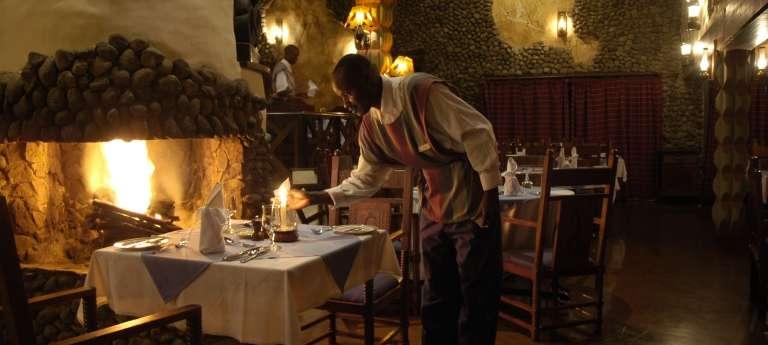 The dining room at Ngorongoro Serena