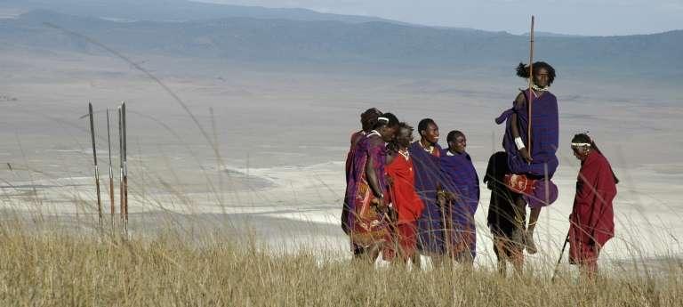 Jumping with the maasai at Ngorongoro Serena, Tanzania
