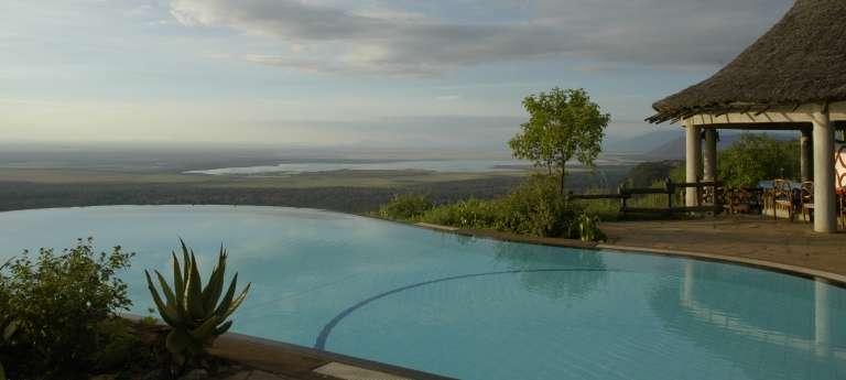 Swimming Pool at Lake Manyara Serena in Lake Manyara, Tanzania
