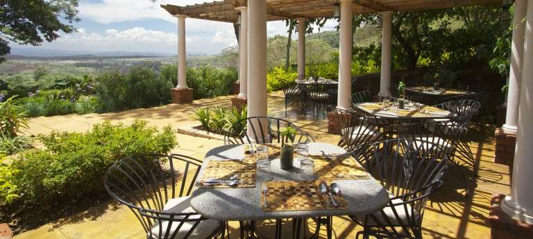 Dining Area at Gibbs Farm in Ngorongoro Conservation Area