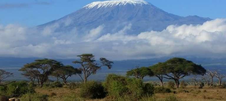 Mount Kilimanjaro view from Rivertrees, Tanzania