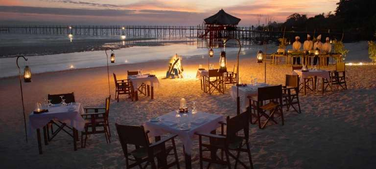 Dining on the Beach at Fundu Lagoon
