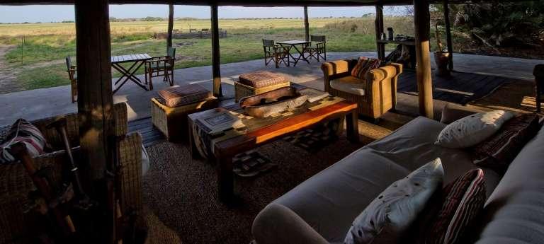 Busanga Bush Camp Lounge in Zambia