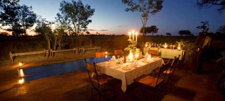 Outdoor Dining at Little Makalolo Camp in Hwange National Park