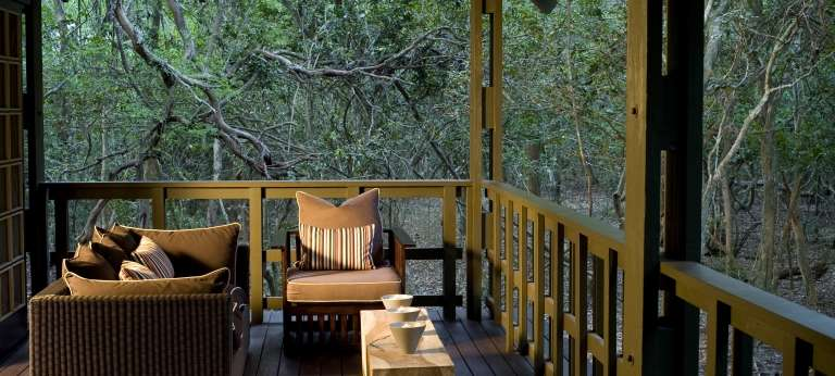 Phinda Forest Lodge suite veranda, Phinda Game Reserve, South Africa