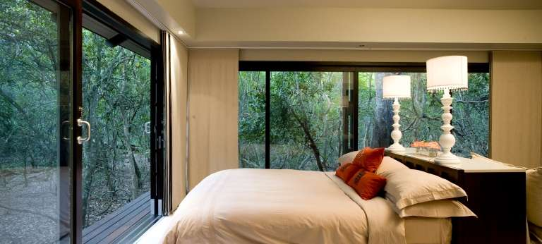 The bedroom view at Phinda Forest Lodge, Accomodation, South Africa