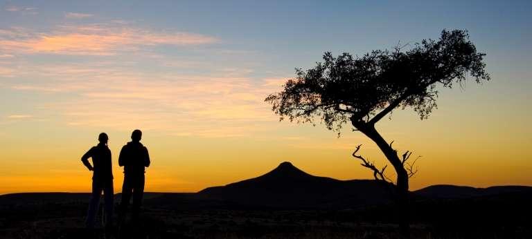 Sunset at Damaraland Camp in Nambia