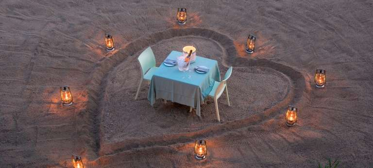 Ngala Tented Camp romantic dinner for two, Ngala Private Game Reserve, South Africa