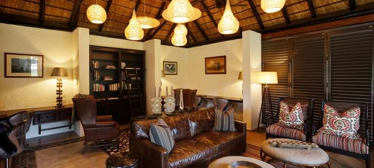 Mfuwe Lodge Lounge Area in South Luangwa, Zambia