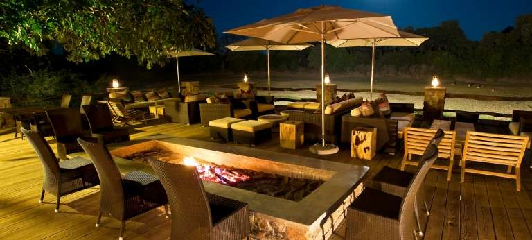 The Outside Lounging Area at Mfuwe Lodge
