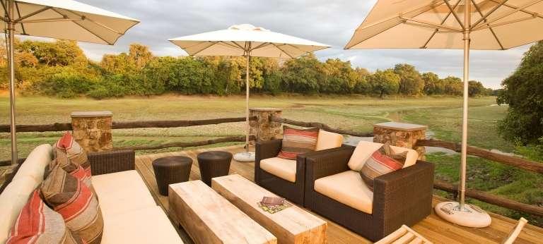 Mfuwe Lodge Outside Lounge in  Zambia