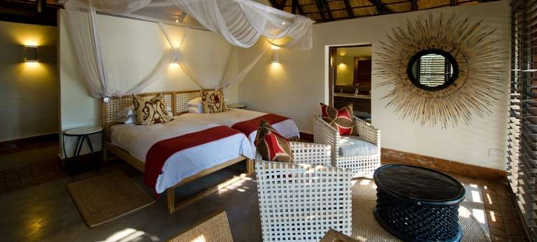 Bedroom at Mfuwe Lodge in Zambia