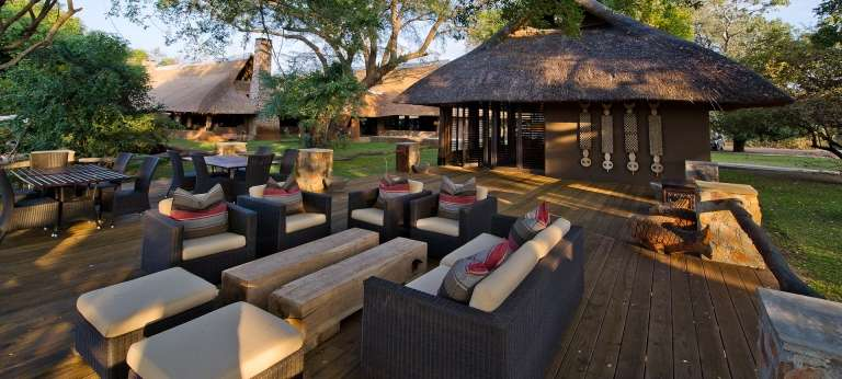 Mfuwe Lodge Outside Dining Area in South Luangwa, Zambia