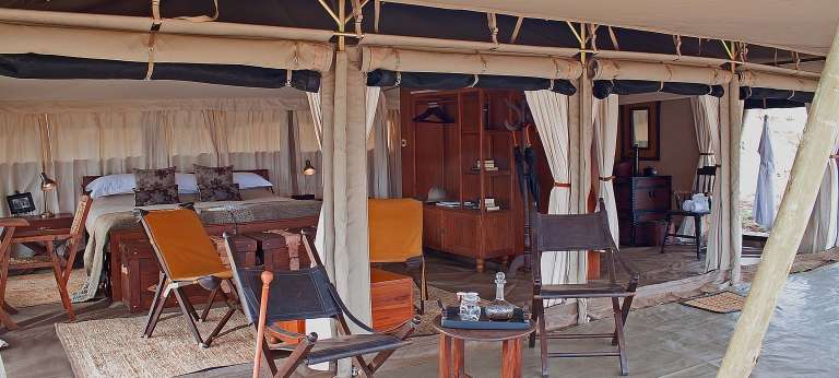 Serengeti Pioneer Camp Tent Interior in South Central Serengeti