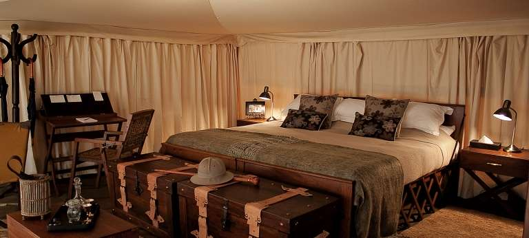 Bedroom at Serengeti Pioneer Camp in Tanzania