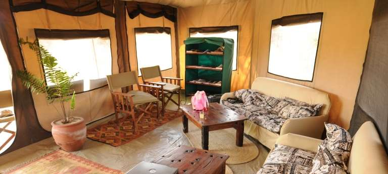 Camp Lounge Area in Serengeti National Park, Tanzania
