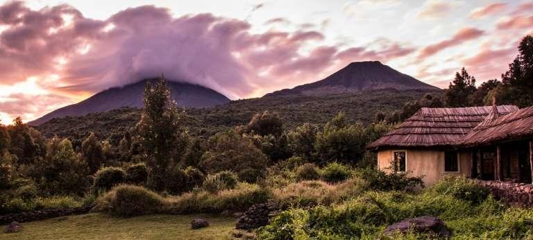 Mount Gahinga Lodge View in Virunga Volcanoes, Uganda