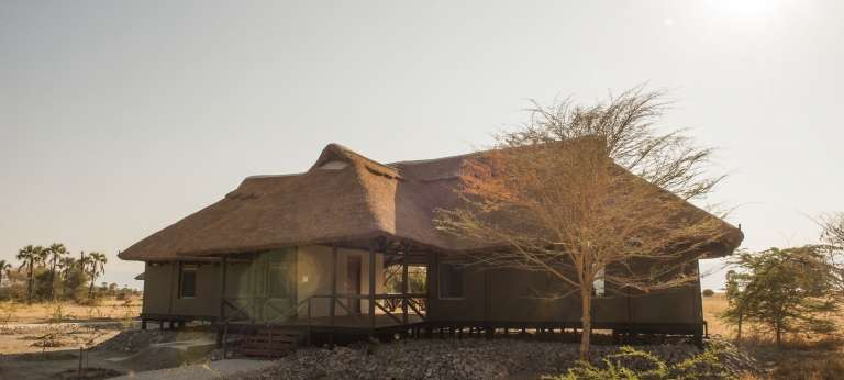 Exterior of the Maramboi Tented Camp in Tarangire