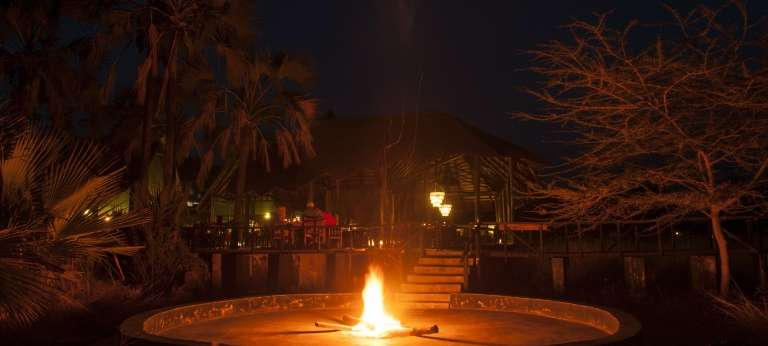 Campfire at Maramboi Tented Camp in Tanzania