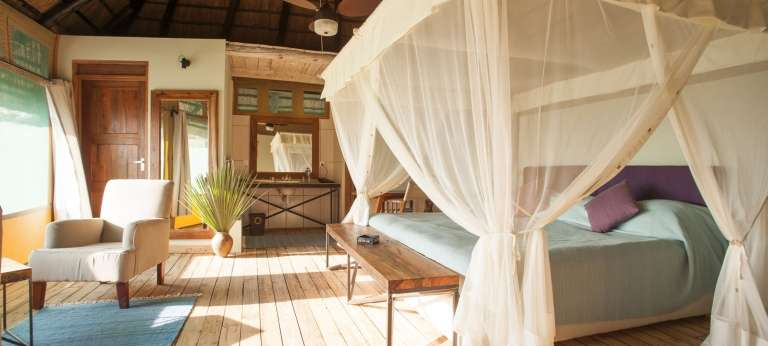 Interior of the Maramboi Tented Camp in Tarangire, Tanzania