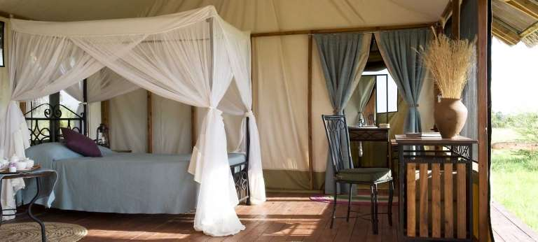 Bedroom at Maramboi Tented Camp in Tarangire