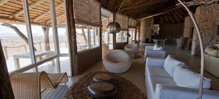 Lounge at Little Kulala in  Namibia