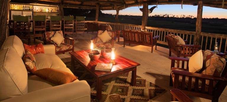 Living Area at Gunn's Camp in Botswana