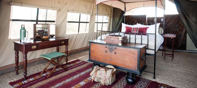Camp Kalahari Bedroom in Botswana