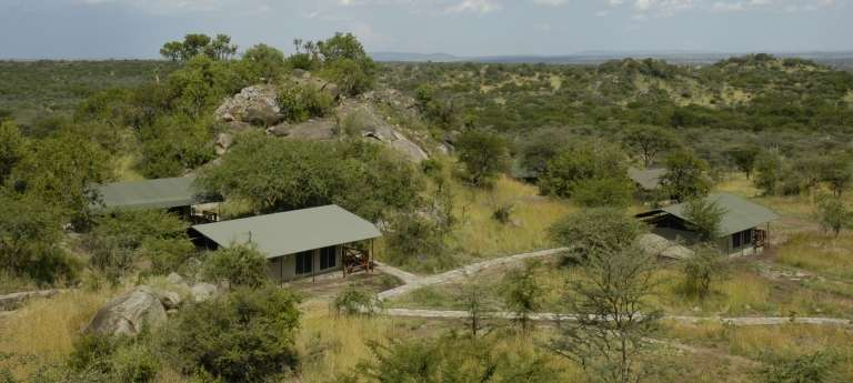 Exterior View of Mbuzi Mawe Serena Tented Camp in Serengeti National Park, Tanzania