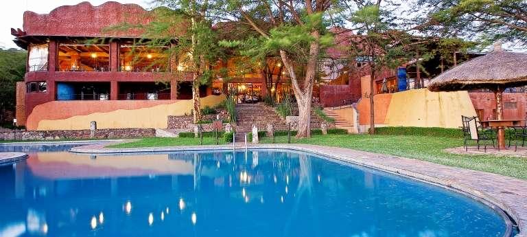 Swimming Pool at Serengeti Sopa Lodge in Serengeti National Park, Tanzania