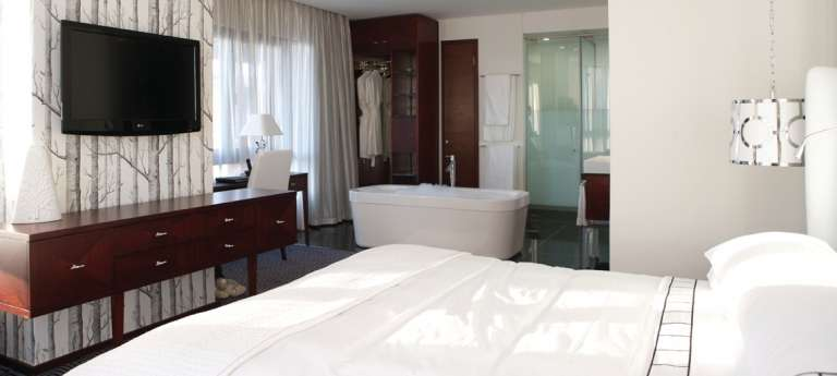 Bedroom at Davinci Hotel and Suites on Nelson Mandela Square in Sandton, South Africa