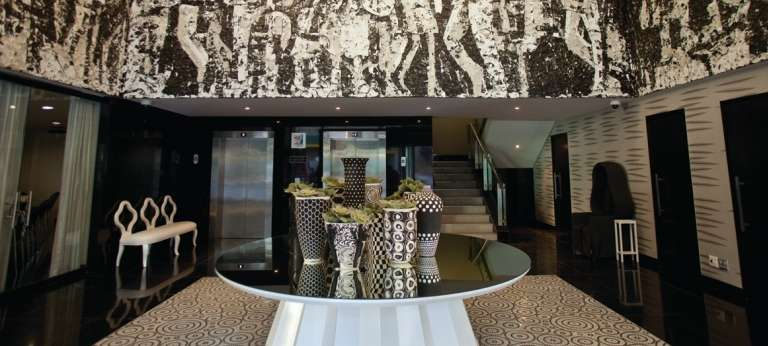 Davinci Hotel and Suites Lobby on Nelson Mandela Square in Sandton, South Africa