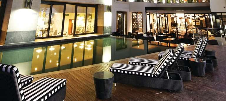 Swimming Pool Deck at Davinci Hotel and Suites on Nelson Mandela Square in Sandton