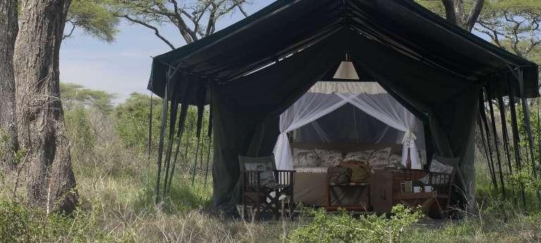 A tent at Kirurumu Ngorongoro Camp, Tanzania