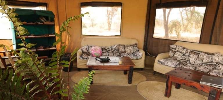 The tent room view at Kirurumu Ngorongoro Camp, Ngorongoro Highlands, Tanzania, Accomodation