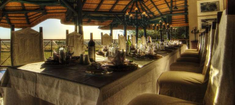 Chobe Savanna Lodge Dining room, Namibia