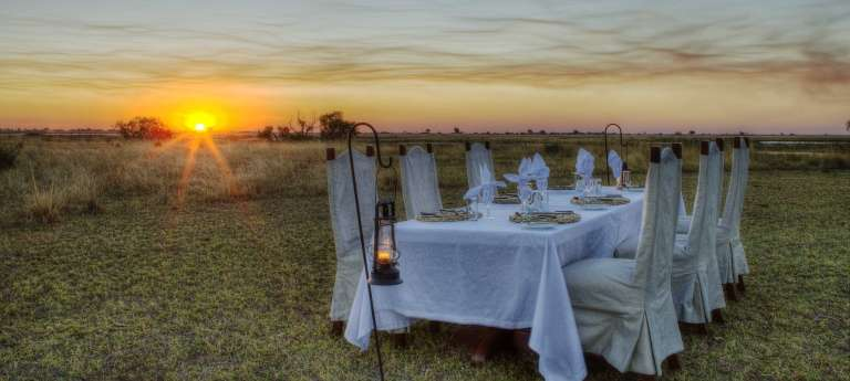 Beautiful sunset at Chobe Savanna Lodge