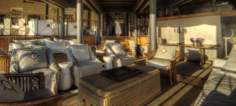 Chobe Savanna Lodge lounge area, Namibia