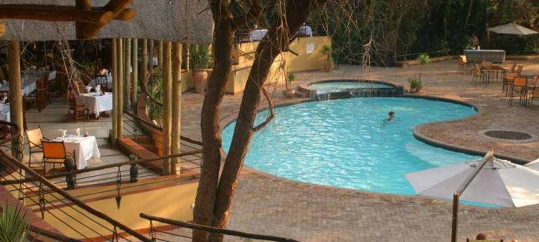 Poolside at Chobe Safari Lodge, Botswana