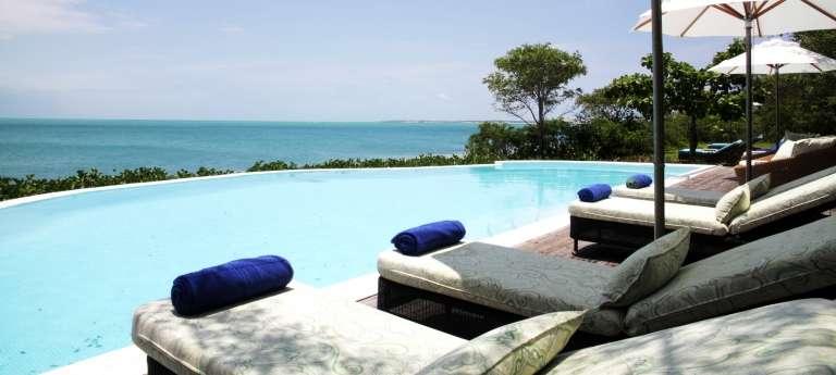 Swimming Pool at Magaruque Island in Bazaruto Archipelago, Mozambique