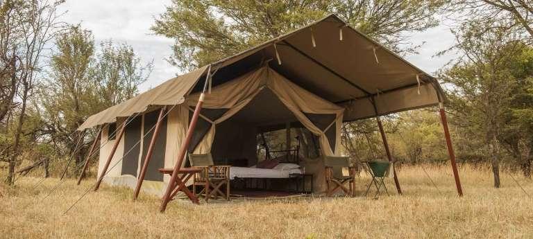 Exterioir Bologonya Under Canvas Safari Camp in Lobo, Tanzania